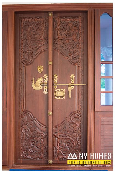 door house design kerala house front double door designs american hwy