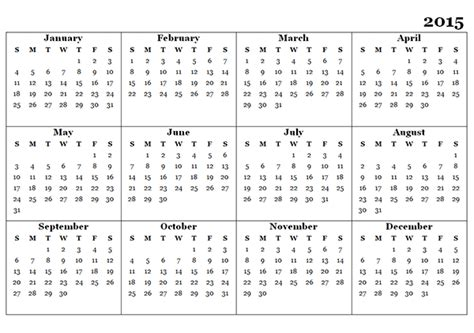 2015 yearly calendar template 07 free printable templates