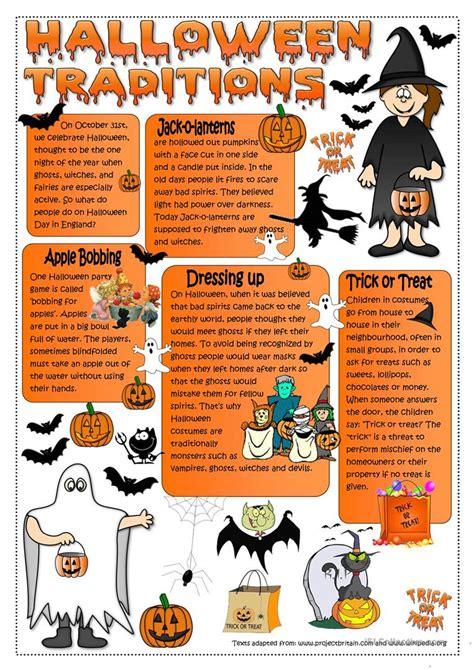 esl printable worksheets halloween halloween traditions worksheet free esl printable