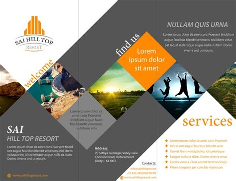 Best Layout Design Brochure | brochure design for sai hill top resort latest portfolio