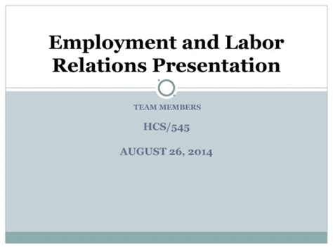 powerpoint templates university of phoenix hcs 545 week 4 employment and labor relations presentation