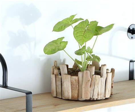 Wooden Plant Pot timber flower pots wooden flower pot