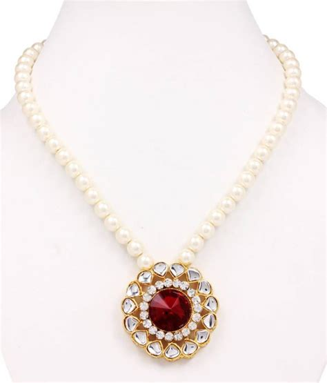 Handmade Pearl Jewelry Designs - buy style me handmade pearl necklace