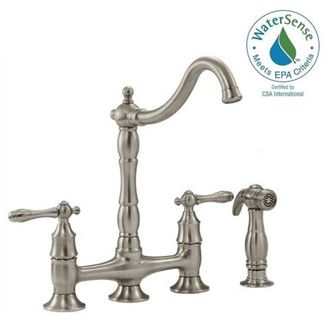 glacier bay lyndhurst bathroom faucet glacier bay lyndhurst 2 handle bridge side sprayer kitchen