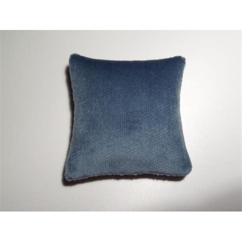Big Square Pillows by Modern Dollhouse Furniture M112 Pods Blue Velvet Large Square Pillow By Renfroe Design