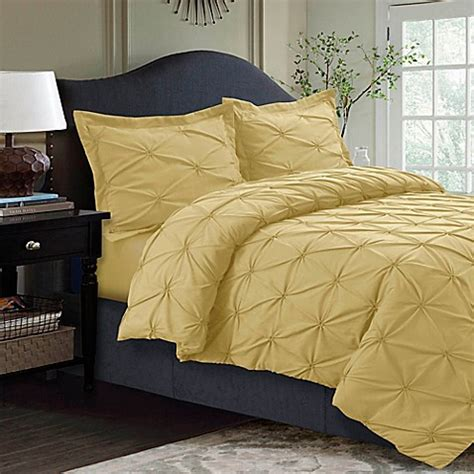 bed bath beyond tribeca buy tribeca living sydney pintuck duvet cover set from bed