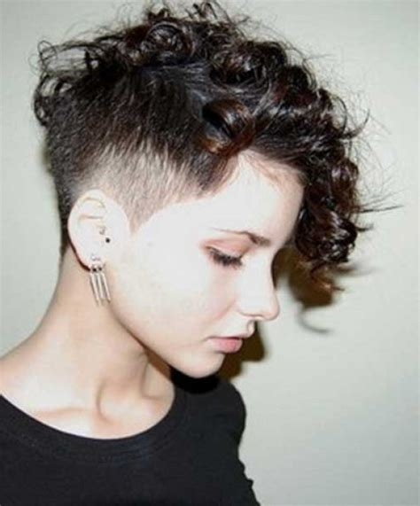 short sides and curl top hairstyles curly hair shaved side for your own hairstyles my salon