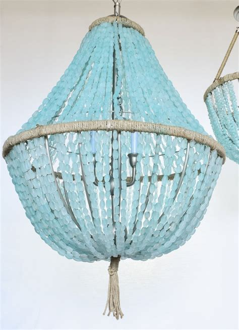 Sea Glass Chandeliers Celeste Sea Glass Empire Chandelier Nuggets Au Courant Interiors