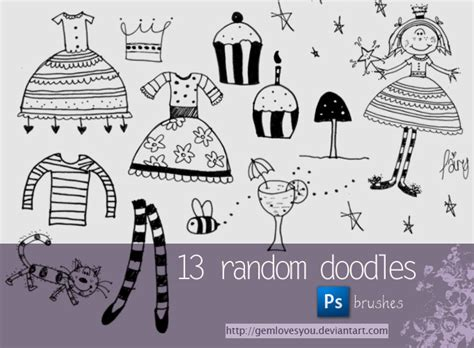 free doodle brushes for photoshop doodle brushes by gemlovesyou on deviantart