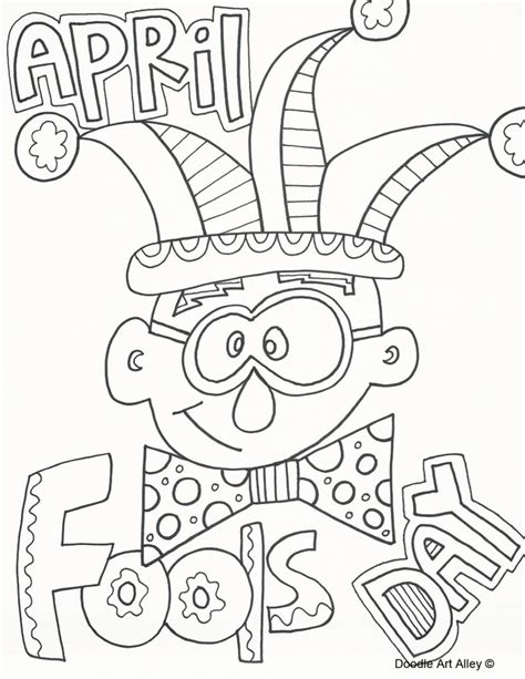coloring pages for april coloring home