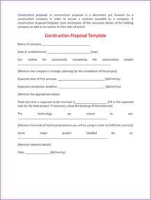 construction bid template construction template 4 best sle