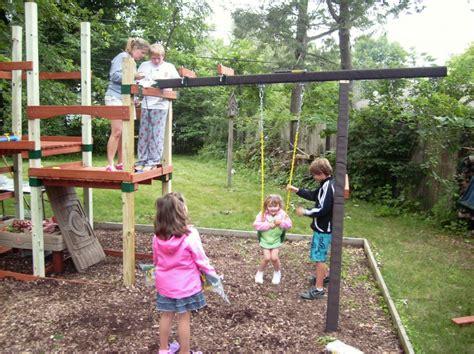 backyard family creating a personalized backyard playset a family