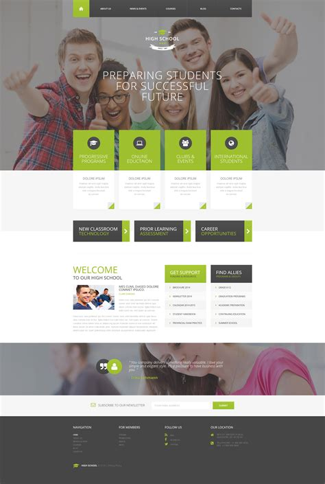 Responsive Drupal Templates by Education Responsive Drupal Template 57961