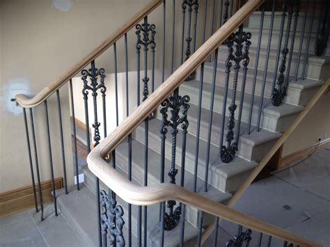 Continuous Handrail continuous oak handrails for farmhouse haldane timber handrails stairs and woodturning