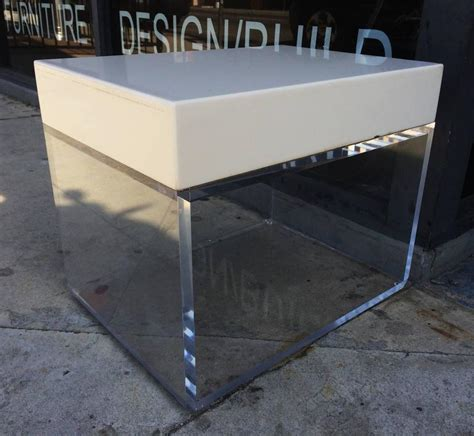 corian bench stunning side tables benches in lucite and corian by cain