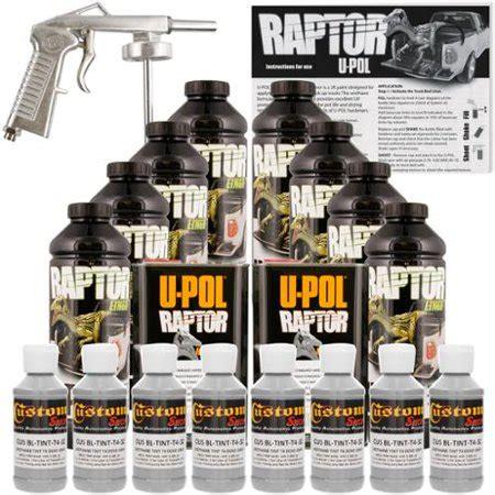 raptor dove gray urethane spray  truck bed liner spray gun  liters walmartcom