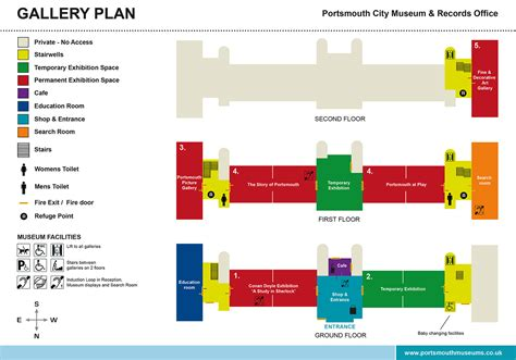 floor plan details of city museum architecture layout dwg file design of portsmouth city museum floor plan and leaflet