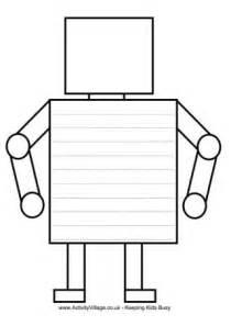 shape robot template robot printables