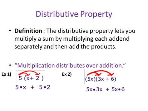 associative commutative and distributive properties of