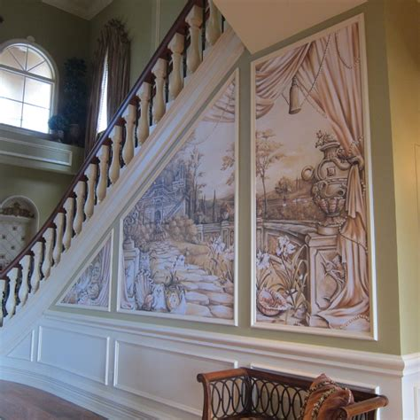 foyer mural mural in entry foyer eclectic entry miami by