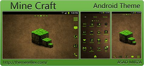 online theme download for android mine craft theme for htc samsung galaxy android os