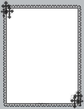 christian black cross frame