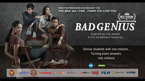 film thailand bad genius sub indo bad genius trailer with greetings from casts and director