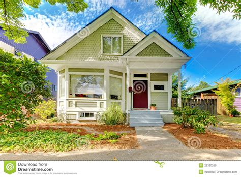 american small house small cute craftsman american house stock image image