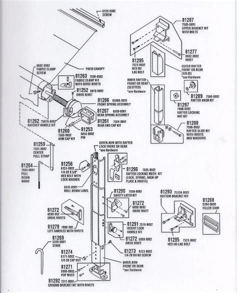 Rv Awning Parts Diagram by Awning Rv Awning Replacement Parts
