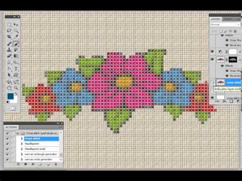 cross stitch pattern maker words cross stitch action generator youtube