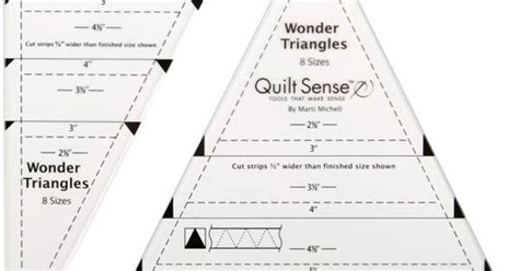 Penggaris Bahan Quilting Ruler Peralatan Jahit quilt sense triangles ruler 1 set quilt sense tools were developed with well known