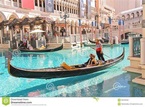 gondola boat vegas gondola rides in venetian hotel in las vegas editorial