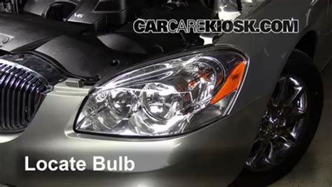 2006 buick lucerne light bulb replacement headlight change 2006 2011 buick lucerne 2008 buick