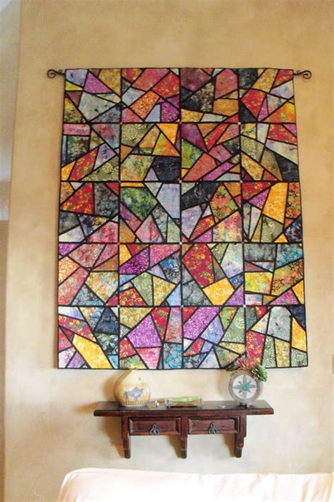 Patchwork Wall Hanging Patterns - batik stained glass quilt doesn t seem to be a repeating