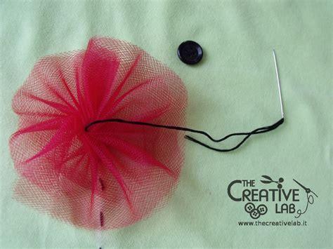 come fare fiori di tulle tutorial personalizzare una maglietta con i papaveri in