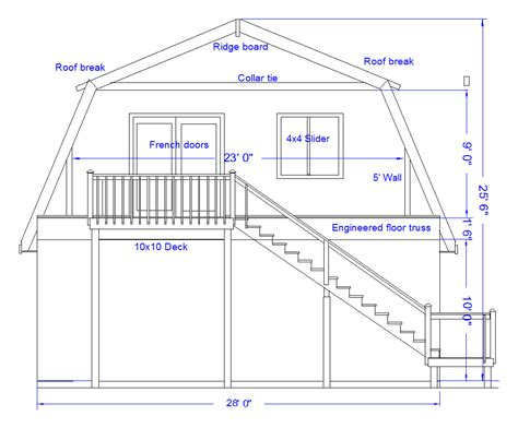 Gambrel Barn House Plans Gambrel Roof Plans Images