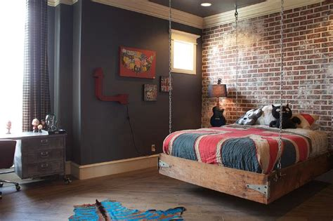 boys bed hanging bed eclectic boy s room vici