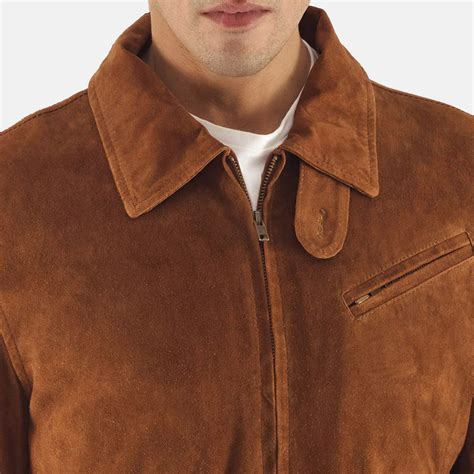 Suede Leather mens tomchi suede leather jacket