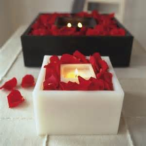 Home Decor Candles valentine s day home decor candles romantic mood red rose petals