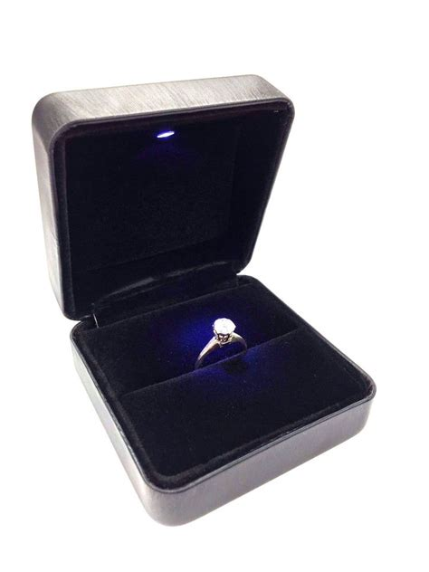 led lighted jewelry engagement wedding ring box ebay