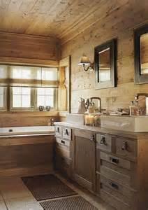 cabin bathrooms ideas bagno rustico