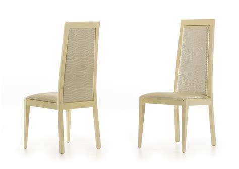 ancona modern beige crocodile eco leather dining chair