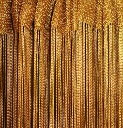 gold curtain grade b string tassel curtain window door fly blind w300