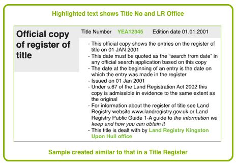 Using The Title Register Declaration Of Land Patent Template