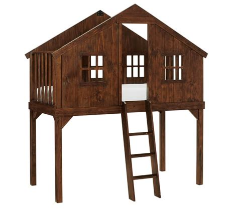 Treehouse Bunk Bed Plans Treehouse Loft Bed Pottery Barn