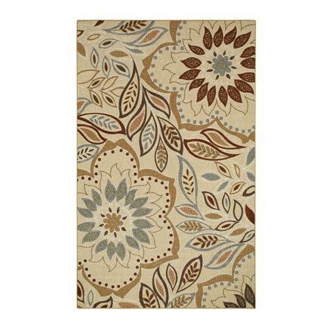 Lowes Area Rugs 8 X 10 Shop Style Selections Beige Rectangular Indoor Tufted Area Rug Common 8 X 10 Actual 7 5 Ft W