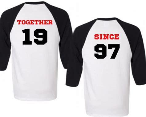 Matching Baseball Shirts For Couples Two Black Baseball Tees Together Since Matching