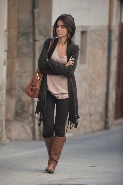 black with brown boots inspirations what to wear with brown boots be