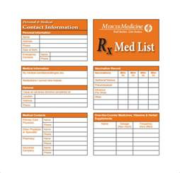 information card template medication card template 13 free printable sle