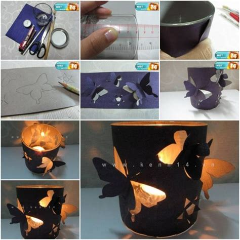 How To Make A Paper Candle Holder - how to make butterfly candle holders